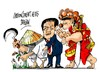 Cartoon: Zhou Yongkang-imputando (small) by Dragan tagged zhou,yongkang,china,corupcion,abuso,de,poder,politics,cartoon