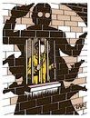 Cartoon: be afraid (small) by johnxag tagged crime,punishment,fear,prison,jail,convict,murder