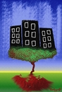 Cartoon: nature rules (small) by johnxag tagged roots,nature,cities,tree,forest,environment,johnxag