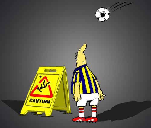 Cartoon: Bicycle Kick... (medium) by berk-olgun tagged bicycle,kick
