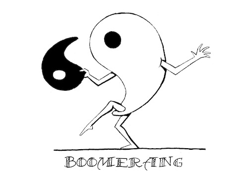 Cartoon: Boomerang... (medium) by berk-olgun tagged boomerang