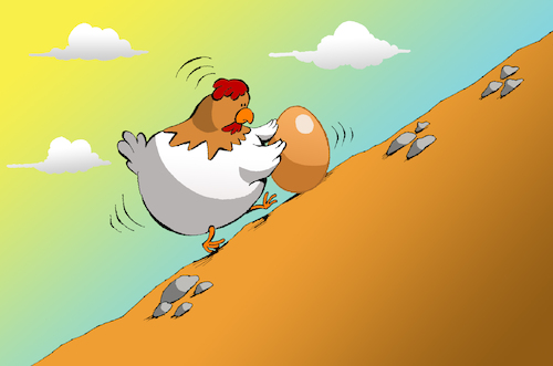 Cartoon: Chicken Sisyphus... (medium) by berk-olgun tagged chicken,sisyphus