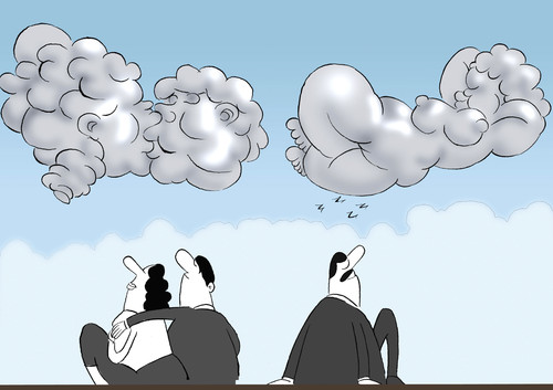 Cartoon: Clouds... (medium) by berk-olgun tagged clouds