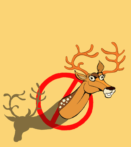 Cartoon: Deer Ban... (medium) by berk-olgun tagged deer,ban