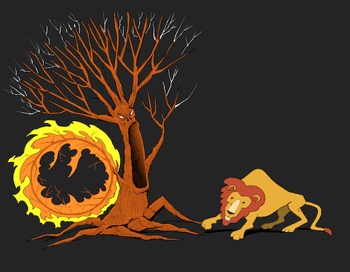 Cartoon: Forest Fire... (medium) by berk-olgun tagged forest,fire