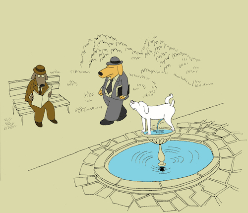 Cartoon: Fountain... (medium) by berk-olgun tagged fountain
