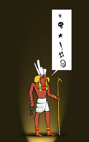 Cartoon: Hieroglyph Swear... (medium) by berk-olgun tagged hieroglyph,swear