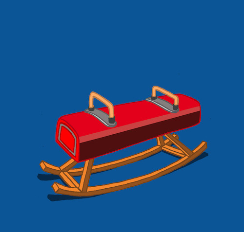 Cartoon: Rocking Pommel Horse... (medium) by berk-olgun tagged rocking,pommel,horse