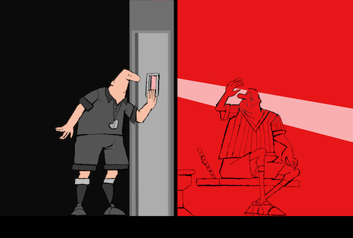 Cartoon: The Red Card... (medium) by berk-olgun tagged the,red,card