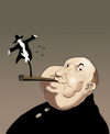 Cartoon: Alfred Hitchcock.. (small) by berk-olgun tagged alfred,hitchcock