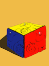 Cartoon: Chameleons Cube... (small) by berk-olgun tagged chameleons,cube