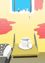 Cartoon: Coffee Fortune... (small) by berk-olgun tagged coffee,fortune
