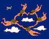 Cartoon: Dance in the Sky... (small) by berk-olgun tagged dance,in,the,sky