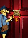 Cartoon: Dog Door Knocker... (small) by berk-olgun tagged dog,door,knocker