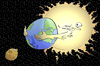 Cartoon: Eclipse of the Moon.. (small) by berk-olgun tagged eclipse,of,the,moon