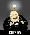 Cartoon: EDISON... (small) by berk-olgun tagged edison