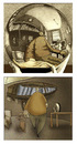 Cartoon: Escher.. (small) by berk-olgun tagged escher