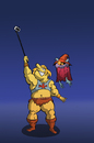 Cartoon: He Man Selfie... (small) by berk-olgun tagged he,man,selfie