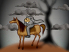 Cartoon: Headless Horseman.. (small) by berk-olgun tagged lost