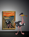 Cartoon: Ostrich Scream... (small) by berk-olgun tagged ostrich,scream