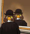 Cartoon: Owl Magritte... (small) by berk-olgun tagged owl,magritte