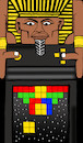 Cartoon: Pharaoh Tetris... (small) by berk-olgun tagged pharaoh,tetris