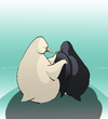 Cartoon: Romantic Penguin... (small) by berk-olgun tagged romantic,penguin
