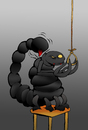 Cartoon: Scorpion Suicide... (small) by berk-olgun tagged scorpion,suicide