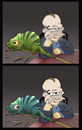 Cartoon: The Bad Chameleon... (small) by berk-olgun tagged the,bad,chameleon