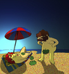 Cartoon: Topless... (small) by berk-olgun tagged topless