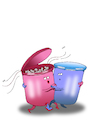 Cartoon: Trash Dance... (small) by berk-olgun tagged trash,dance
