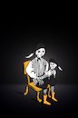 Cartoon: Ventriloquist Hamlet... (small) by berk-olgun tagged ventriloquist,hamlet