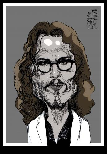Cartoon: JOHNNY DEEP (medium) by Marian Avramescu tagged johnny
