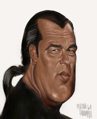 Cartoon: Seagal (medium) by Marian Avramescu tagged mmmmmmmm