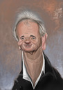 Cartoon: Bill Murray (small) by Marian Avramescu tagged mmmmmmmmmmmm