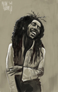 Cartoon: Bob Marley (small) by Marian Avramescu tagged mmmmmmmmmmmmm