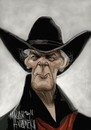Cartoon: JACK PALANCE (small) by Marian Avramescu tagged mmmmmmmmmmmm