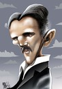 Cartoon: NICOLA TESLA (small) by Marian Avramescu tagged mav