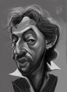 Cartoon: Serge Gainsbourg (small) by Marian Avramescu tagged mmmmmmm