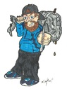 Cartoon: Me being me (small) by m-crackaz tagged sean,mcrackaz,crackaz,bottle,can,bag,pen