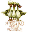 Cartoon: friends will be friends (small) by jenapaul tagged friends,ducks,people