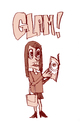 Cartoon: glam! (small) by jenapaul tagged glam,magazines,women,girls,fashion,media
