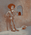 Cartoon: Violin (small) by Wiejacki tagged violin,education,boy,school,schule,music,art,young,musician,fiddle,fiddler,money