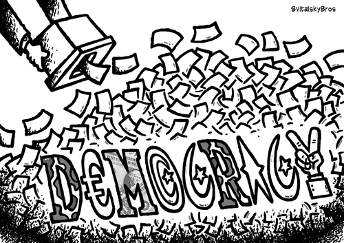 Democracy after election BW