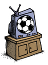 Football TV illustration