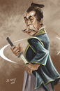 Cartoon: Toshiro Mifune (small) by zsoldos tagged caricature