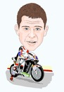 Cartoon: Stefan Bradl (small) by Vandersart tagged stefan,bradl,caricatures,cartoons
