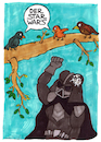 Cartoon: Der Star Wars (small) by meikel neid tagged star,wars,vogel,kot