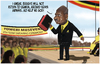 Cartoon: MUSEVENI (small) by Fred Makubuya tagged museveni,uganda,dictators,africa,african,bafoon,of,the,week,besigye,riots,videos