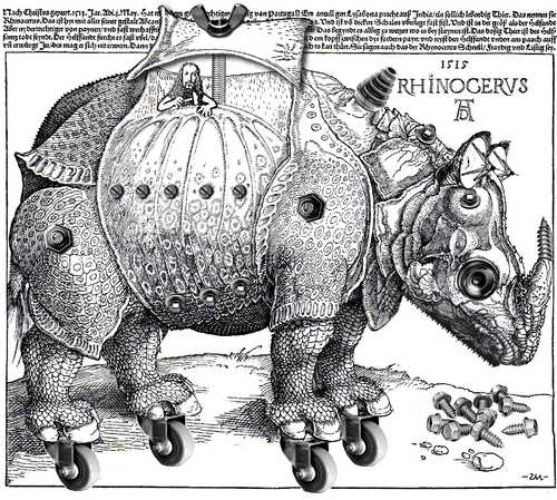 Cartoon: Hommage a Rhynocerus (medium) by zu tagged dürer,rhynocerus